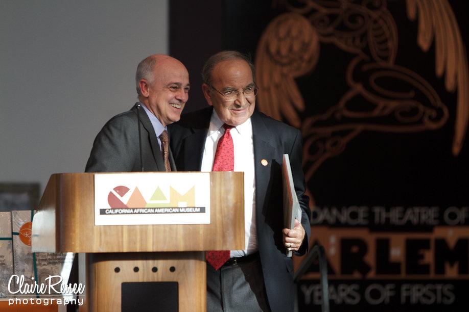 Ryman Arts Board Member Ed Nowak and Co-Founder Marty Sklar