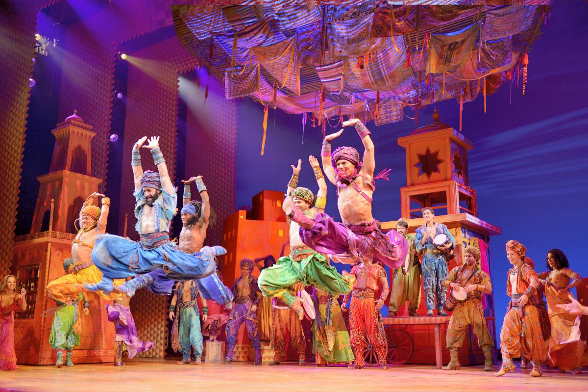 Broadway musical Disney's Aladdin at the Pantages
