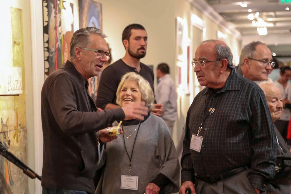 Ryman Arts Board President Wayne Hunt with Co-Founders Leah and Marty Sklar