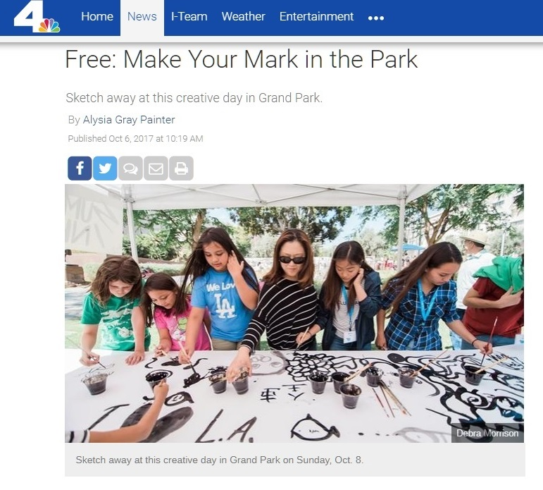NBC Southern California: Free - Make Your Mark in the Park