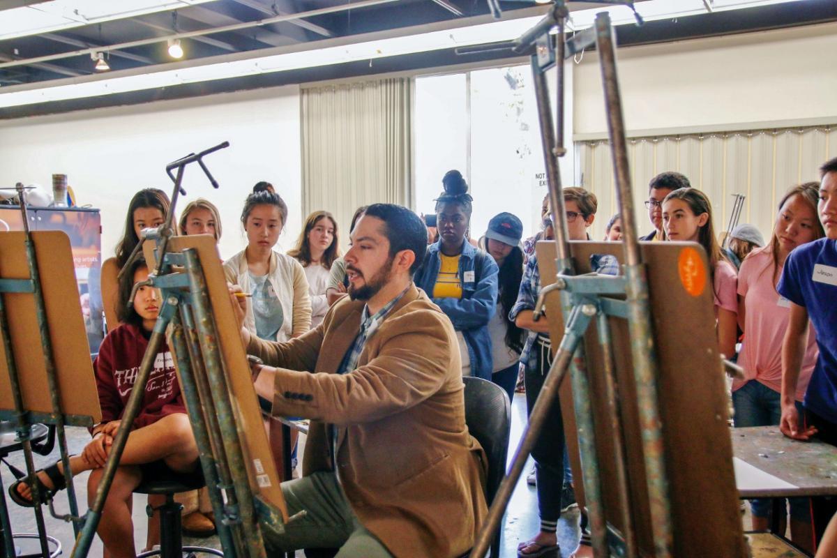 Ryman Arts Spring 2018 semester with Master Teaching Artist Sergio Rebia.