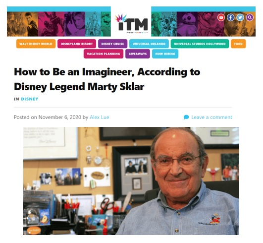 Inside the Magic: How to Be an Imagineer, According to Disney Legend Marty Sklar