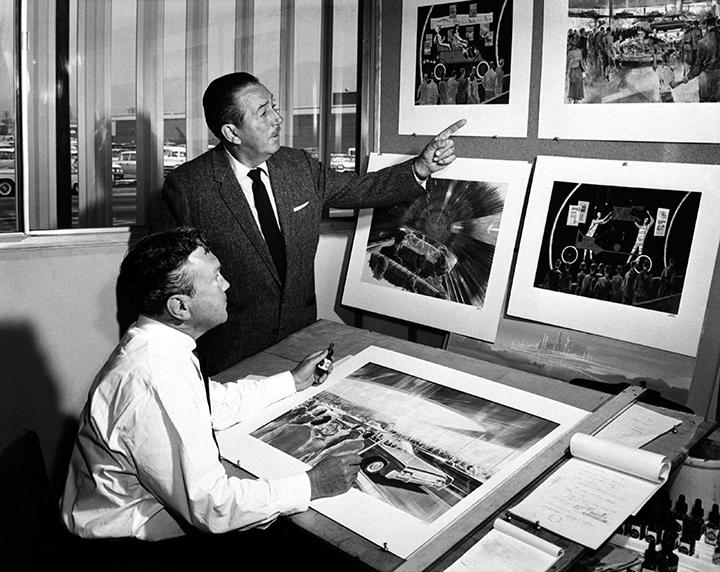 Walt Disney & Herb Ryman at Herb's desk