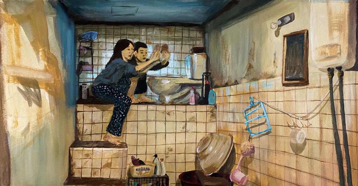 Advanced Painting student Serena Chan (Ryman '21) utilizes core art skills to paint this acrylic scene