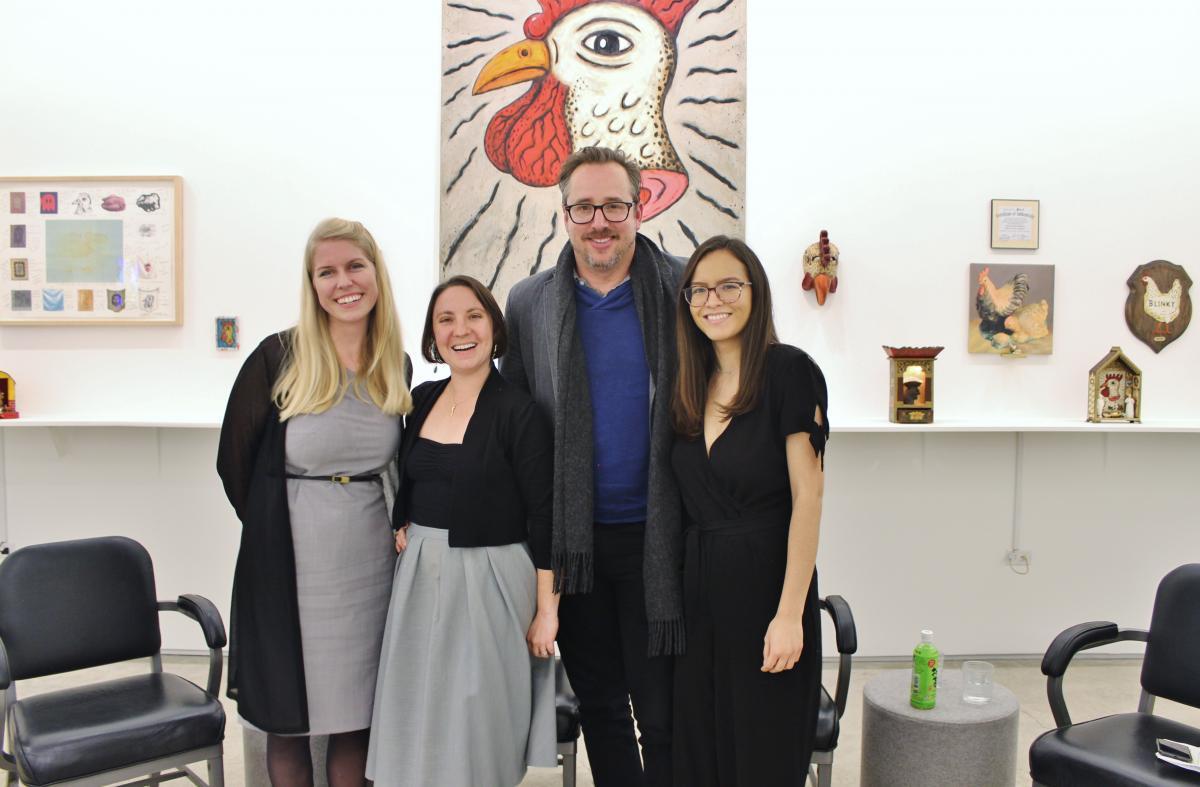 Panelists Nicole Budrovich, Lucia Fabio, David De Boer, and Moderator Veronica Mora at Edward Cella Art + Architecture