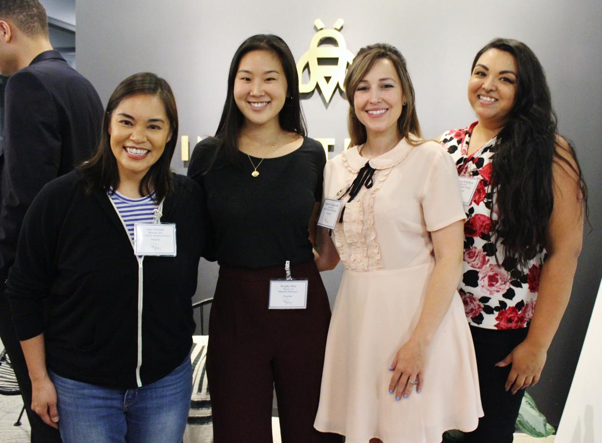 Josie Trinidad, Stephy Kim, Eugenia Sangiovanni, and Adrianna Arambula (left to right)
