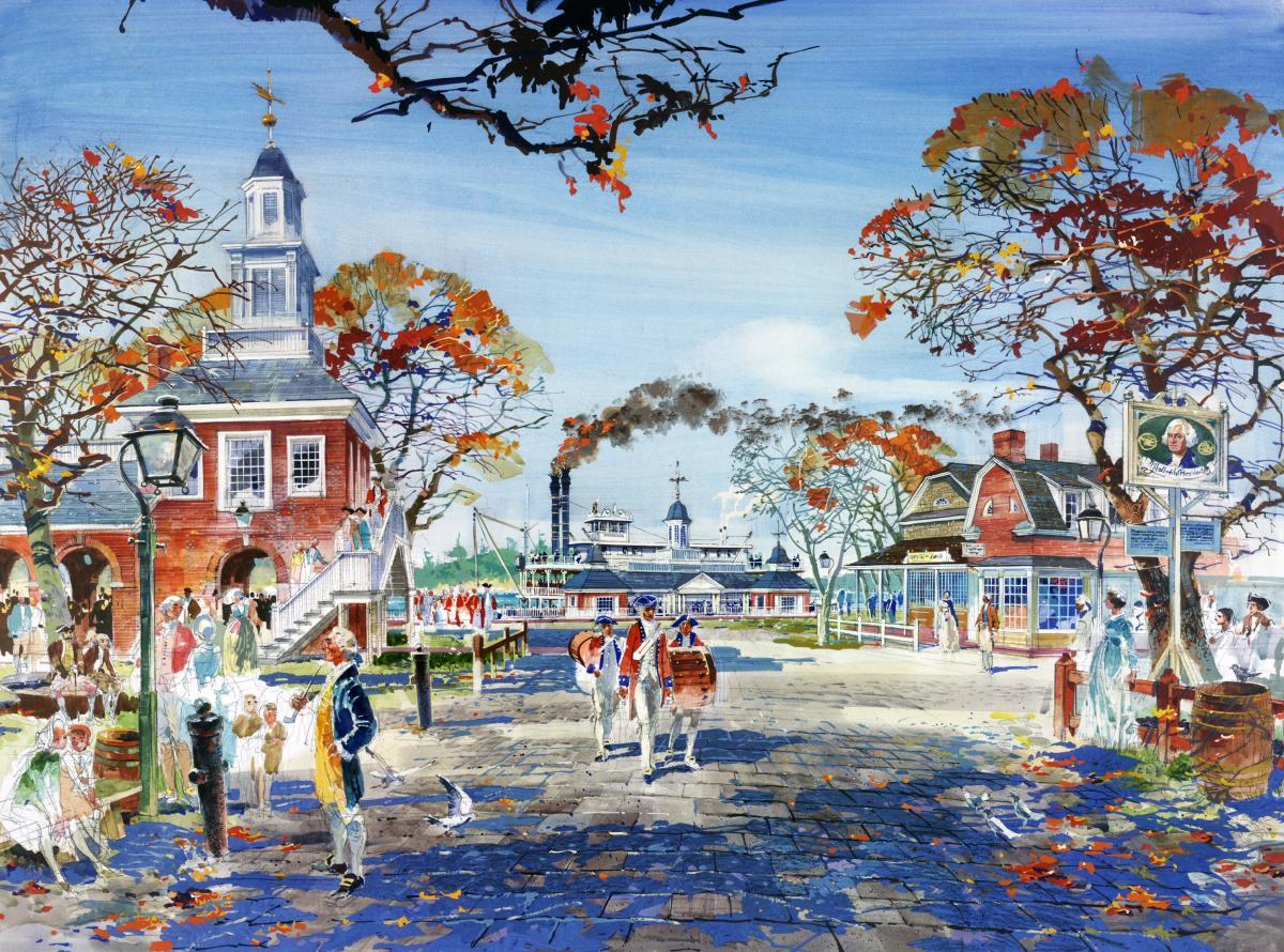 Herbert Ryman Disney Lands Artwork