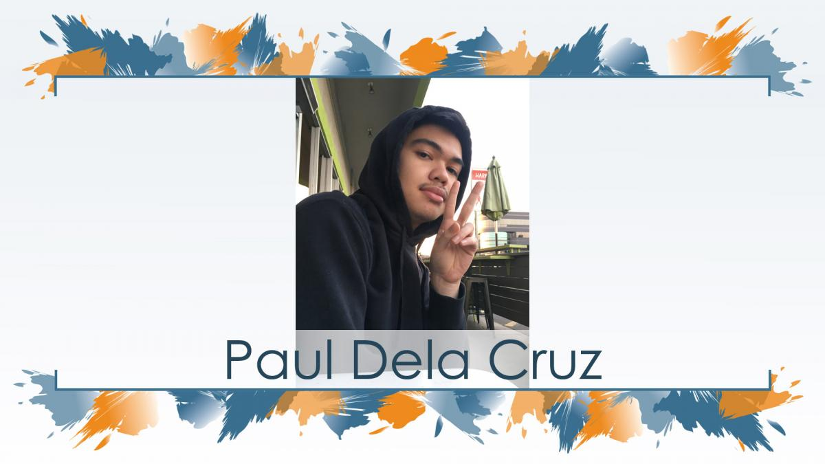 Recognition of graduate Paul Dela Cruz (Ryman '20), the recipient of this year's Hani El-Masri Student Artist Award