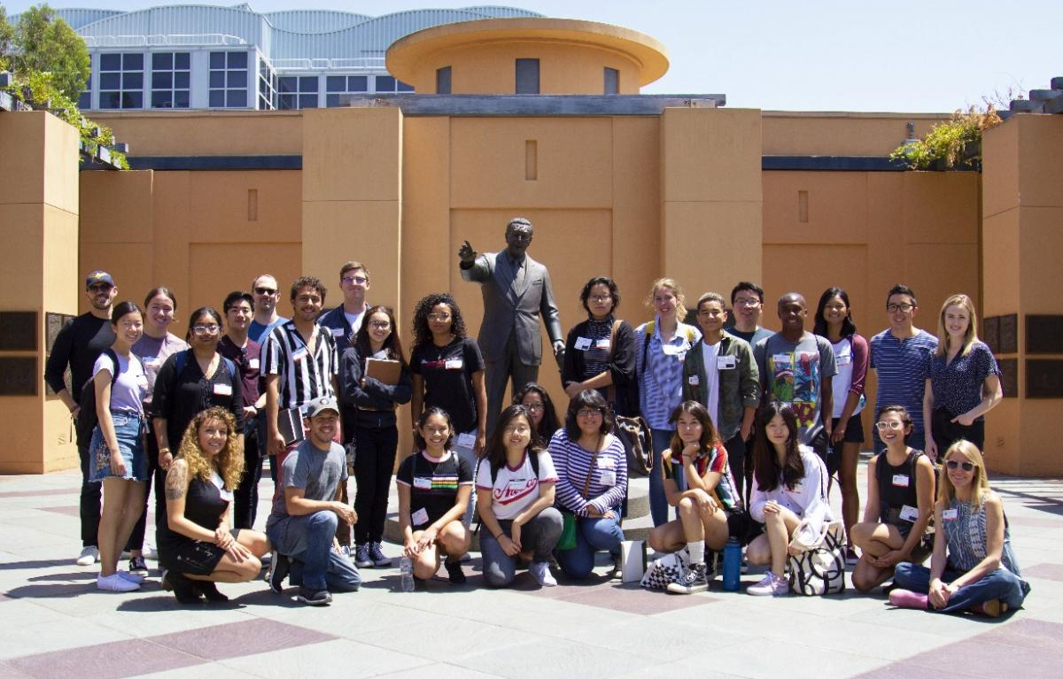 Ryman Arts students and alumni with the Visual Department team at Marvel Studios