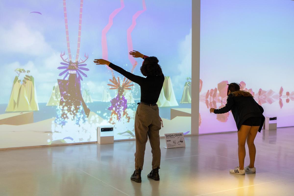 Ryman Arts artists participate in the interactive exhibition, BAKERU: Transforming Spirits