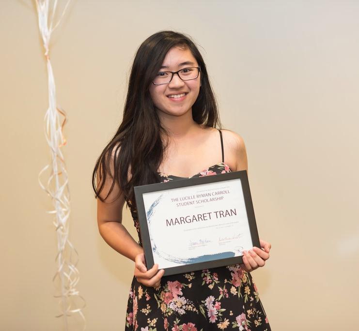 Lucille Ryman Carroll Student Award Margaret Tran (Ryman '16)
