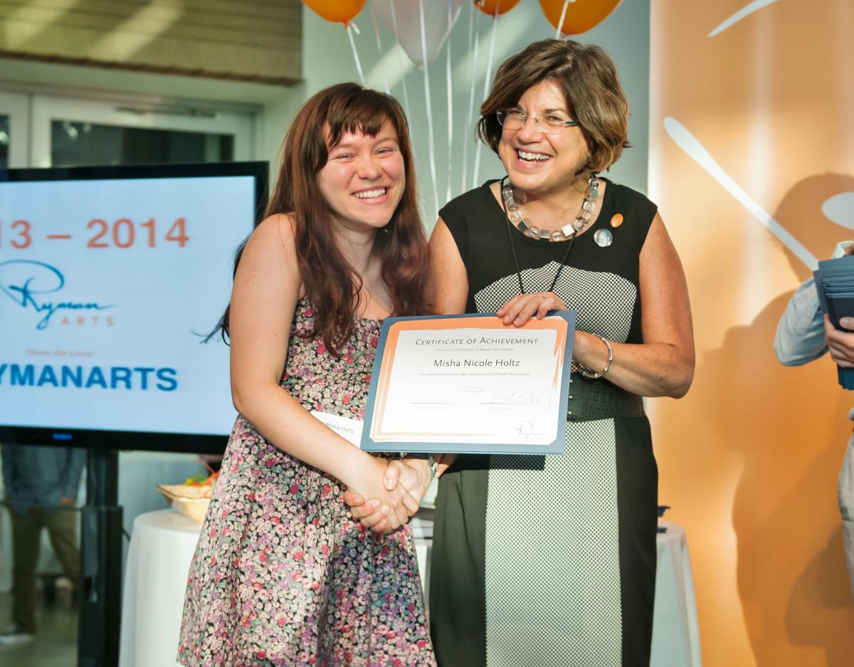 Lucille Ryman Carroll Student Award Misha Holtz (Ryman '14) and Diane Brigham