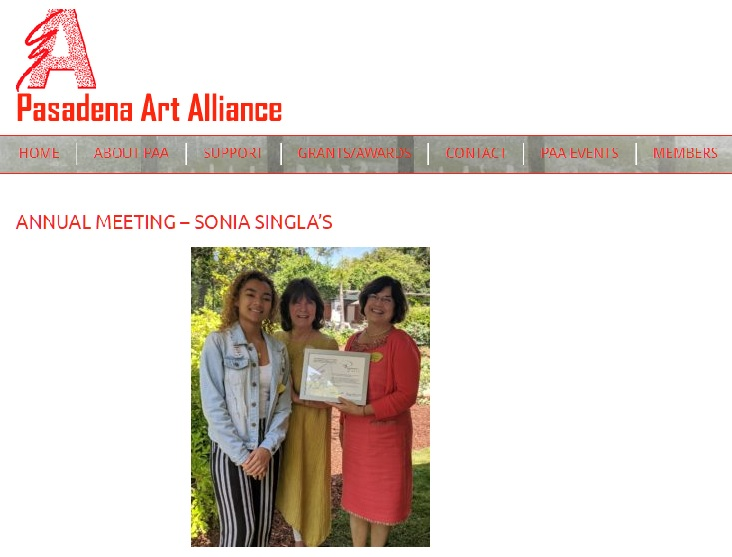Pasadena Art Alliance: Ryman Arts was presented with the 2019 Impact Award