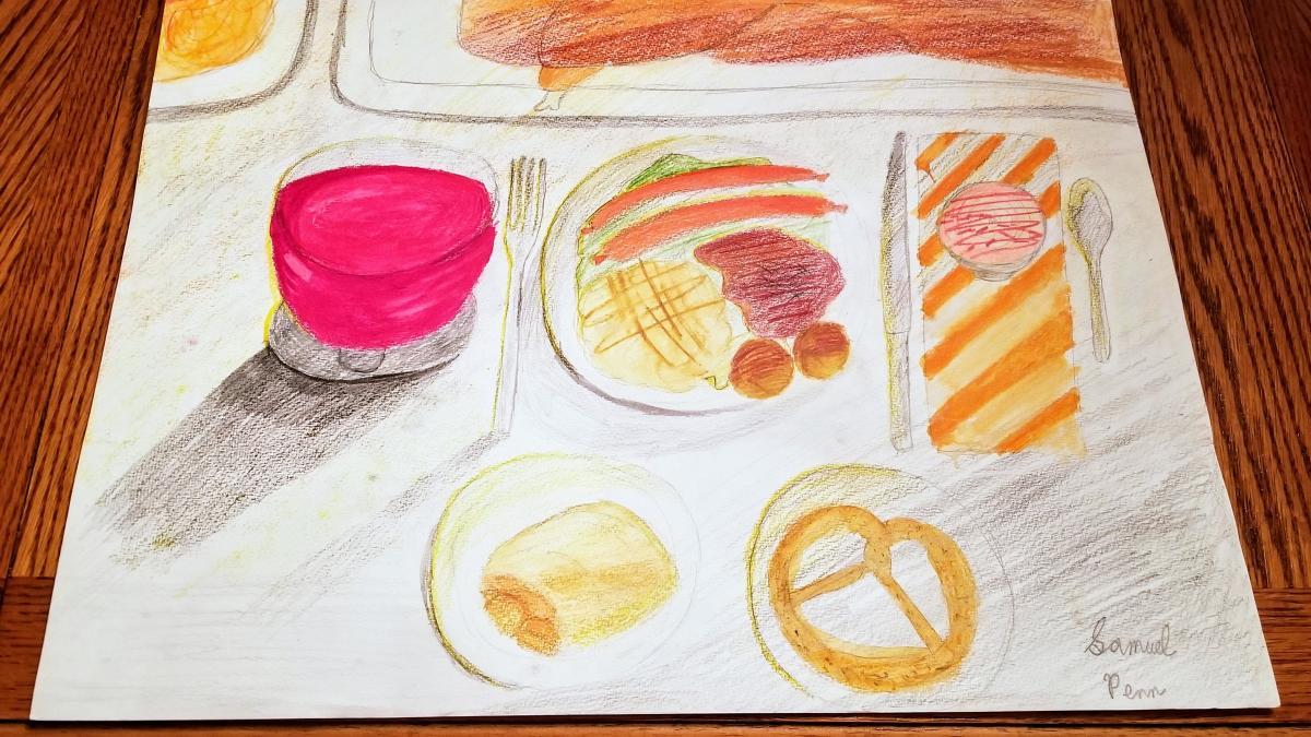Ryman Arts Drawing Challenge: Artwork by Samuel Penn; Dream dinner