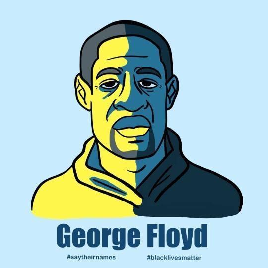 George Floyd artwork by Raquel Martinez (Ryman '16)