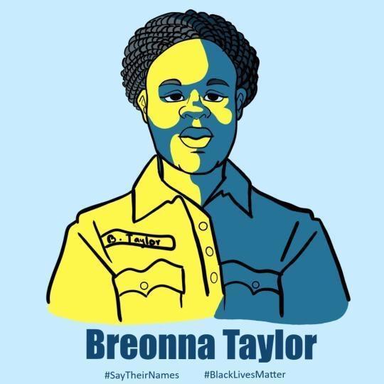 Breonna Taylor artwork by Raquel Martinez (Ryman '16)