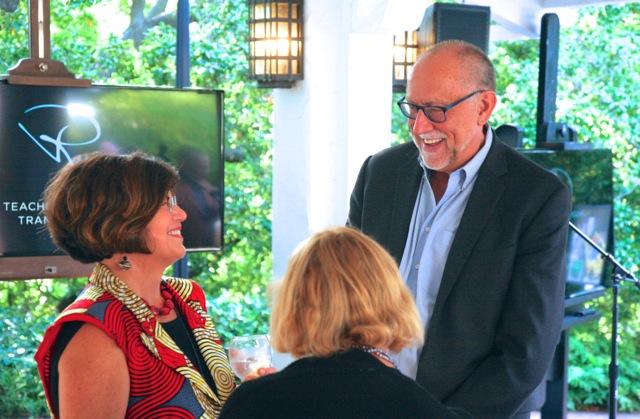 Ryman Arts Executive Director Diane Brigham with Board President Phil Hettema