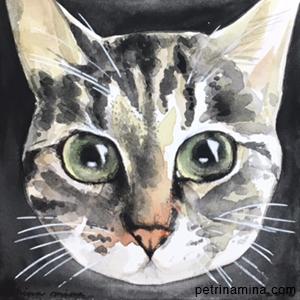 commissioned pet portrait by Ryman Arts alumna Petrina Mina (Ryman '00)