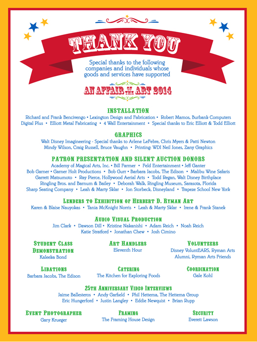 An affair of the art 2014 ryman arts thank you to our generous 2014 sponsors altavistaventures Image collections